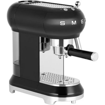 Smeg ECF01BLUK Espresso Coffee Machine - Black Best Price, Cheapest Prices