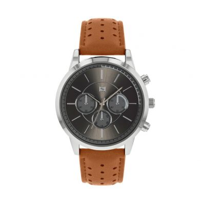 Spirit Men's Brown Faux Suede Strap Watch Best Price, Cheapest Prices
