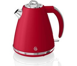 SWAN Retro SK19020RN Jug Kettle - Red Best Price, Cheapest Prices