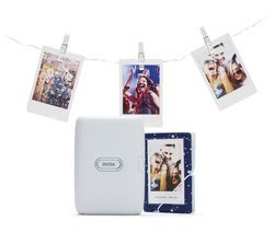 INSTAX mini Link Photo Printer with Album & LED Peg Lights Bundle - Ash White Best Price, Cheapest Prices