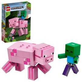 LEGO Minecraft BigFig Pig with Baby Zombie Set 21157 Best Price, Cheapest Prices