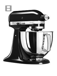 KitchenAid 125 Artisan 4.8L Stand Mixer - Onyx Black Best Price, Cheapest Prices