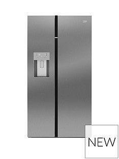 Beko Asgn542X 91Cm Wide, Total No Frost, American Style Fridge Freezer - Stainless Steel Best Price, Cheapest Prices
