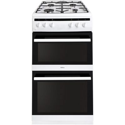 Amica AFG5500WH 50cm Gas Cooker with Full Width Gas Grill - White - A/A Rated Best Price, Cheapest Prices