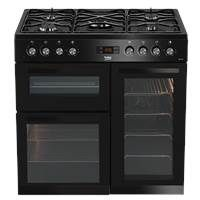 Beko KDVF90K 90cm Dual Fuel Range Cooker in Black