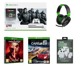 MICROSOFT Xbox One S Gears 5 Special Edition, Tekken 7, Project Cars 2, Recon 70X Gaming Headset & Twin Docking Station Bundle Best Price, Cheapest Prices