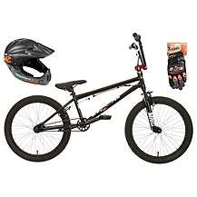 Mongoose Scan R50 BMX bike, Helmet and Gloves Best Price, Cheapest Prices