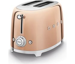 SMEG Special Edition TSF01RGUK 2-Slice Toaster - Rose Gold Best Price, Cheapest Prices
