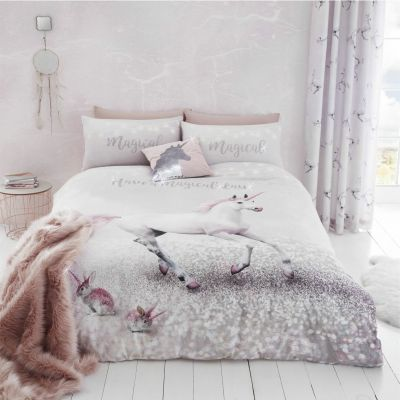 Catherine Lansfield Enchanted Unicorn Bedding Set - Double Best Price, Cheapest Prices