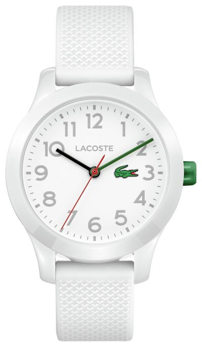 Lacoste Unisex Childrens White Silicone Strap Watch Best Price, Cheapest Prices