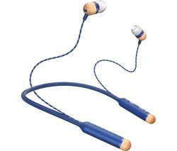 HOUSE OF MARLEY Smile Jamaica Wireless Bluetooth Headphones - Blue Best Price, Cheapest Prices