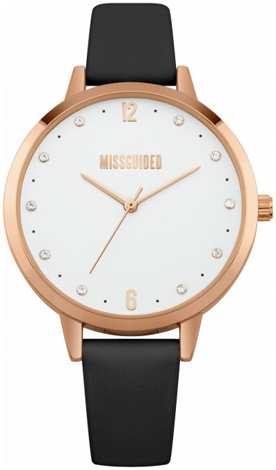 Missguided Black Faux Leather Strap Watch Best Price, Cheapest Prices