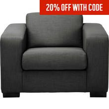 Argos Home Ava Fabric Armchair - Charcoal Best Price, Cheapest Prices