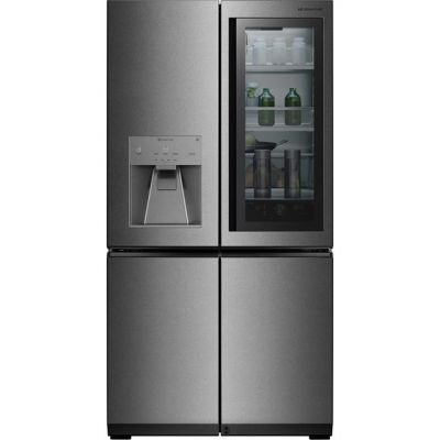 LG Signature InstaView Door-in-Door™ LSR100 Wifi Connected American Fridge Freezer - Stainless Steel - A++ Rated Best Price, Cheapest Prices