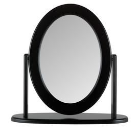 Argos Home Oval Dressing Table Mirror - Black Best Price, Cheapest Prices