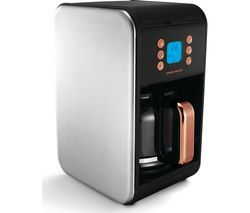 MORPHY RICHARDS Accents 162011 Filter Coffee Machine - Black & Rose Gold Best Price, Cheapest Prices