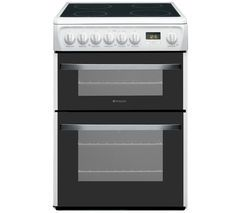 HOTPOINT DSC60P Electric Ceramic Cooker - White Best Price, Cheapest Prices