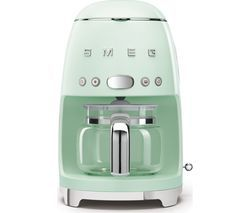 SMEG 50's Retro DCF02PGUK Filter Coffee Machine - Pastel Green Best Price, Cheapest Prices