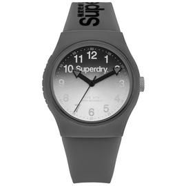 Superdry Men's Grey Silicone Strap Watch Best Price, Cheapest Prices
