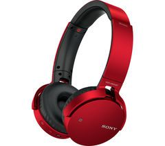 SONY MDR-XB650BTR EXTRA BASS Wireless Bluetooth Headphones - Red Best Price, Cheapest Prices
