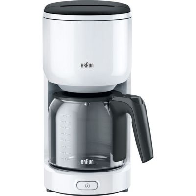 Braun PurEase Series 3 KF3100WH Filter Coffee Machine - White Best Price, Cheapest Prices