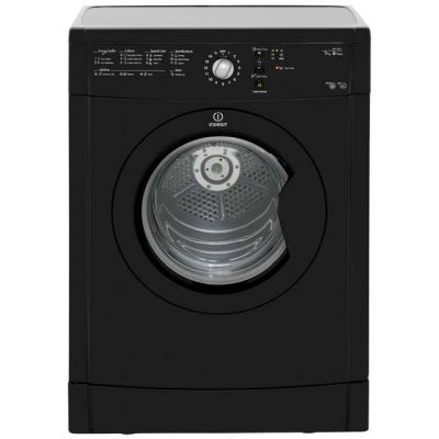 Indesit Eco Time IDVL75BRK 7Kg Vented Tumble Dryer - Black - B Rated Best Price, Cheapest Prices