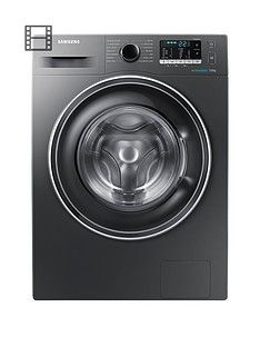 Samsung Ww70J5555Ex/Eu 7Kg Load, 1400 Spin Washing Machine With Ecobubble&Trade; Technology - Graphite Best Price, Cheapest Prices
