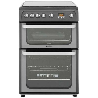 Hotpoint Ultima HUG61G 60cm Gas Cooker with Variable Gas Grill - Graphite Best Price, Cheapest Prices