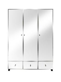 Bellagio 3 Door, 3 Drawer Wardrobe Best Price, Cheapest Prices
