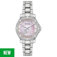 Bulova Ladies' Swarovski Crystal Two Tone Rose Watch Best Price, Cheapest Prices