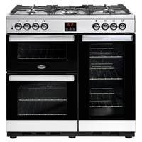 Belling Cookcentre 90DFT 90cm Dual Fuel Range Cooker in Stainless Steel Best Price, Cheapest Prices