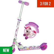 Ozbozz Unicorn Scooter With Soft Toy Best Price, Cheapest Prices