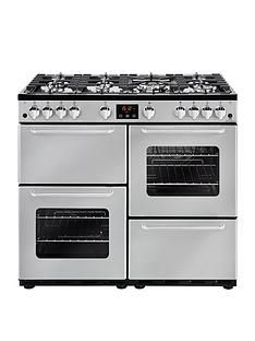 New World New World NW 100G 100cm Gas Range Cooker - Silver Best Price, Cheapest Prices