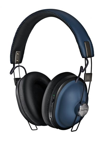 Panasonic RP-HTX90NE-A Over-Ear Wireless Headphones - Blue Best Price, Cheapest Prices