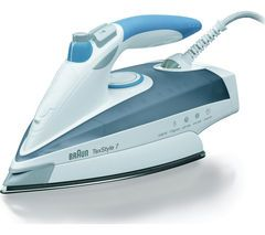 BRAUN TexStyle 7 TS765A Steam Iron - Grey & Blue Best Price, Cheapest Prices