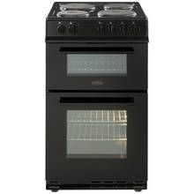 Belling FS50EFDO 50cm Double Oven Electric Cooker - Black Best Price, Cheapest Prices