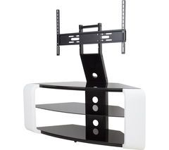 AVF Como FSL1174COGW TV Stand with Bracket - White Best Price, Cheapest Prices