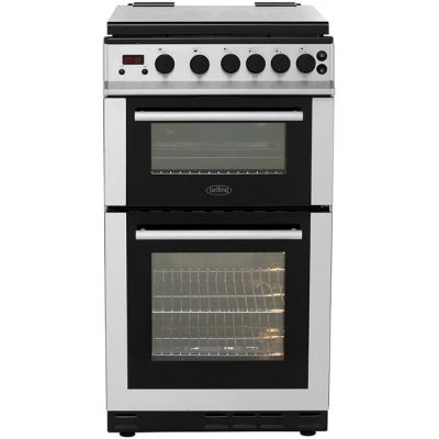 Belling FS50GDOLm 50cm Gas Cooker with Variable Gas Grill - Stainless Steel - B/A Rated Best Price, Cheapest Prices