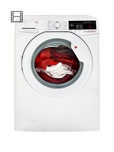Hoover Dynamic Next Dxoa68Lw3 8Kg Load, 1600 Spin Washing Machine With One Touch - White Best Price, Cheapest Prices