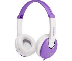GROOV-E KIDZ GV-590-VW Kids Headphones - Violet & White Best Price, Cheapest Prices
