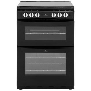 Newworld NW601GTCL 60cm Gas Cooker with Full Width Gas Grill - Black - A Rated Best Price, Cheapest Prices