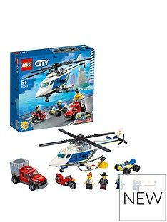 LEGO City 60243 Police Helicopter Chase with ATV, Motorbike and Truck Best Price, Cheapest Prices