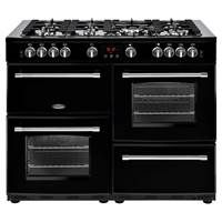 Belling Farmhouse 110GT 110cm Gas Range Cooker in Black 444444151 Best Price, Cheapest Prices
