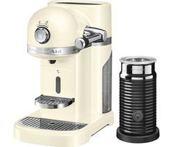 NESPRESSO by KitchenAid Artisan 5KES0504BAC Coffee Machine with Aeroccino 3 - Almond Cream Best Price, Cheapest Prices