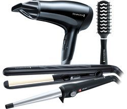 REMINGTON S3500GP Haircare Gift Pack - Black Best Price, Cheapest Prices