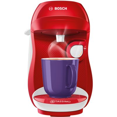 Tassimo by Bosch Happy TAS1006GB Pod Coffee Machine - Red / White Best Price, Cheapest Prices