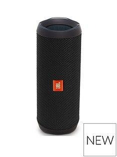 JBL JBL Flip 4 Wireless Bluetooth Waterproof Speaker with Call handling and up to 12 hours Playtime - Black Best Price, Cheapest Prices