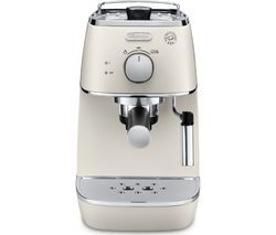 DELONGHI Distinta ECI341W Coffee Machine - White Best Price, Cheapest Prices