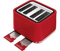 TEFAL Loft TT60540 4-Slice Toaster - Cherry Red Best Price, Cheapest Prices