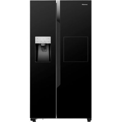 Hisense RS694N4BB1 American Fridge Freezer - Black - A+ Rated Best Price, Cheapest Prices